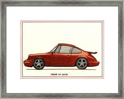 Porsche 911 964 Rs Framed Print by Juan  Bosco