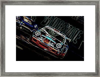 Porsche 911 Racing Framed Print by Sebastian Musial