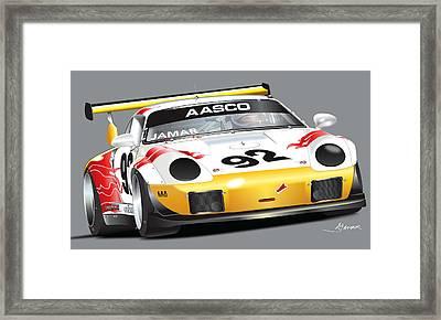 Porsche 911 Turbo Custom Framed Print by Alain Jamar