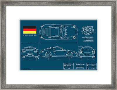 Porsche 911 Type 997 Coupe Framed Print by Douglas Switzer