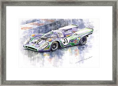 Porsche 917 K Martini Racing 1970 Framed Print by Yuriy  Shevchuk