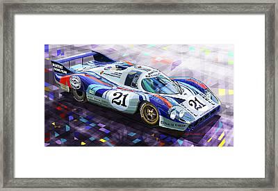 Porsche 917 Lh Larrousse Elford 24 Le Mans 1971 Framed Print by Yuriy  Shevchuk