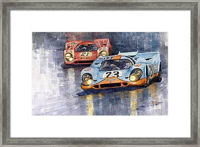 Porsche 917k 1000km Zeltweg Austria 1970  Framed Print by Yuriy Shevchuk