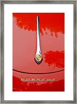 Porsche Hood Emblem -0516c Framed Print by Jill Reger