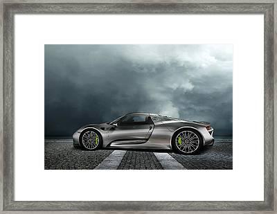 Porsche Spyder Framed Print by Peter Chilelli