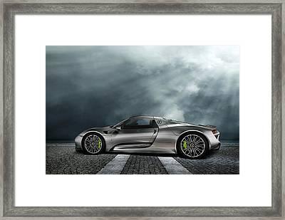 Porsche Spyder V2 Framed Print by Peter Chilelli