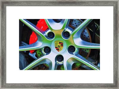 Porsche Wheel Framed Print by Marcus Dagan