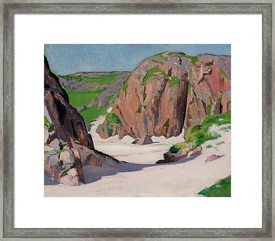 Port Bhan  Iona Framed Print by Francis Campbell Boileau Cadell