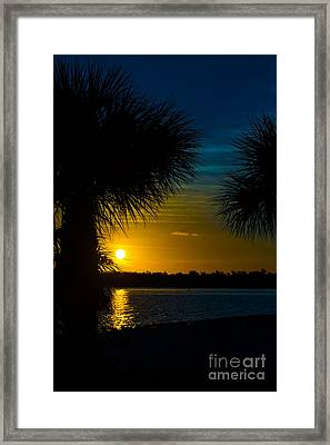 Port Charlotte Beach Sunset In January Framed Print by Anne Kitzman