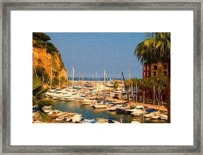 Port De Fontvieille Framed Print by Jeff Kolker