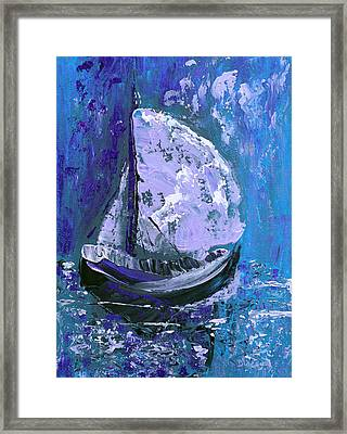 Port In The Storm Framed Print by Donna Blackhall