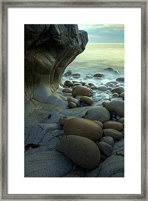 Port Nanven Framed Print by Pete Hemington