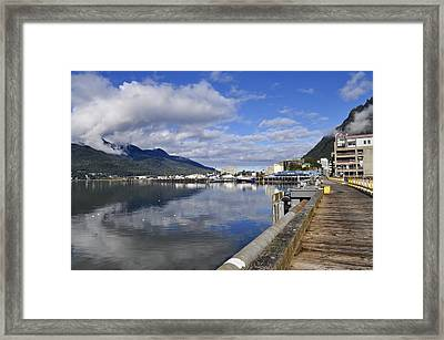 Port Of Juneau Framed Print by Cathy Mahnke