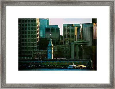 Port Of San Francisco Framed Print by Eric Tressler