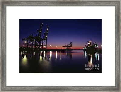 Port Of Tacoma Framed Print by Jim Corwin