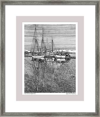 Reflections Of Port Orchard Washington Framed Print by Jack Pumphrey