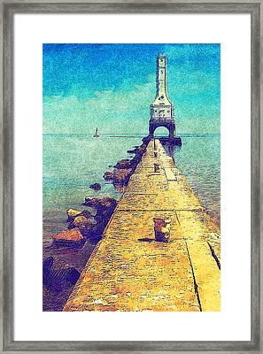 Port Washington Brakewall Framed Print by Jack Zulli