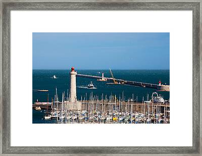 Port With The Mole St-louis Pier Framed Print by Panoramic Images