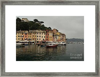 Portafino Italy  Framed Print by Diane Greco-Lesser