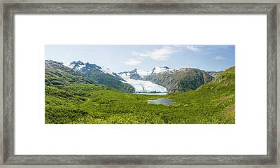 Portage Glacier And Portage Lake Framed Print by Panoramic Images