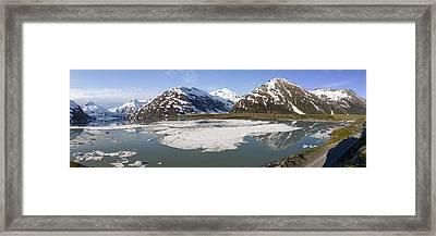 Portage Lake Panorama Framed Print by Tim Grams