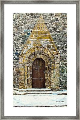 Portal Of St. Lachtain Framed Print by John Walsh