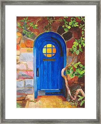 Framed Print featuring the painting Portal by Rodney Campbell