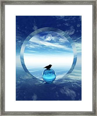 Portal To Peace Framed Print by Richard Rizzo