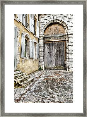 Porte Cochere Framed Print by Olivier Le Queinec