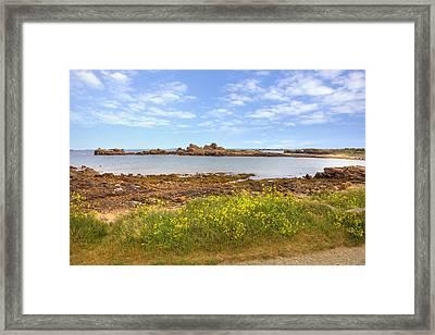 Portinfer Bay - Guernsey Framed Print by Joana Kruse