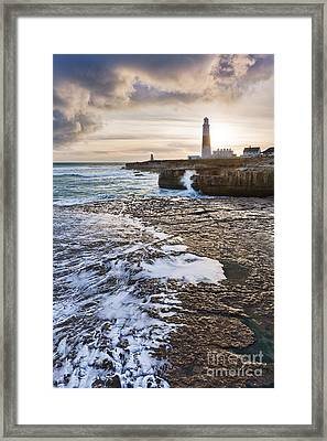Portland Bill Framed Print by Rod McLean