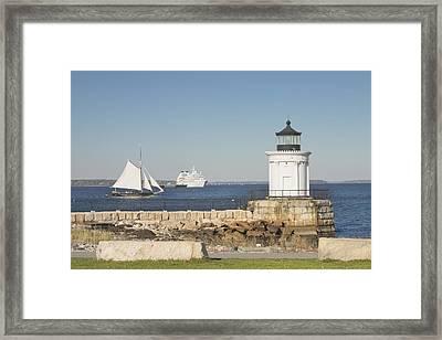 Portland Breakwater Lighthouse On The Maine Coast Framed Print by Keith Webber Jr