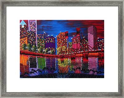 Portland City Light 37 Framed Print by Portland Art Creations