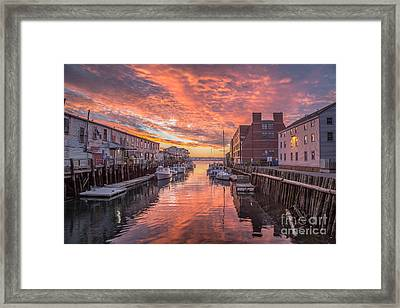 Portland Harbor Sunrise Framed Print by Benjamin Williamson