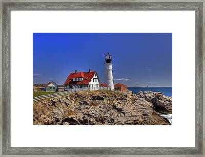 Portland Head Light 3 Framed Print by Joann Vitali