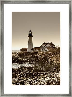 Portland Head Lighthouse Framed Print by Joann Vitali
