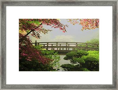Portland Japanese Garden,oregon, Usa (pr Framed Print by Michel Hersen