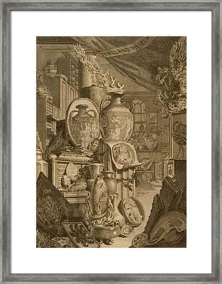 Portland Museum, 1786 Framed Print by Charles Burney
