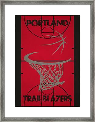 Portland Trail Blazers Court Framed Print by Joe Hamilton