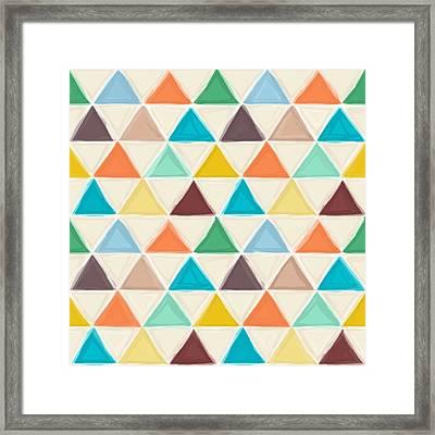 Portland Triangles Framed Print by Sharon Turner