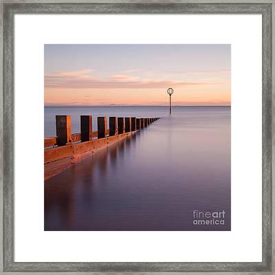 Portobello Beach Groynes Framed Print by John Farnan