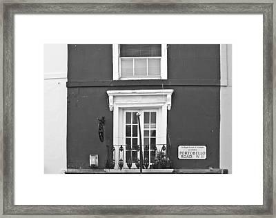 Portobello In Mono Framed Print by Georgia Fowler