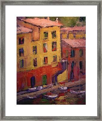 Portofino Afternoon Framed Print by R W Goetting