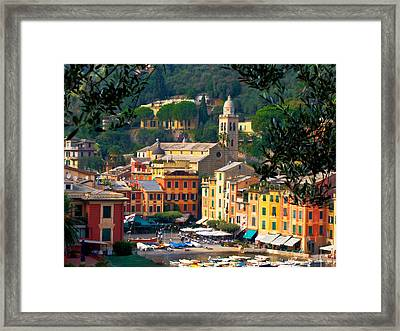 Portofino Framed Print by Carl Jackson