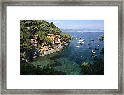 Portofino Coast Framed Print by Christian Heeb