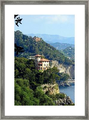Portofino Coastline Framed Print by Carla Parris