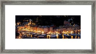 Portofino Evening Framed Print by Carl Amoth