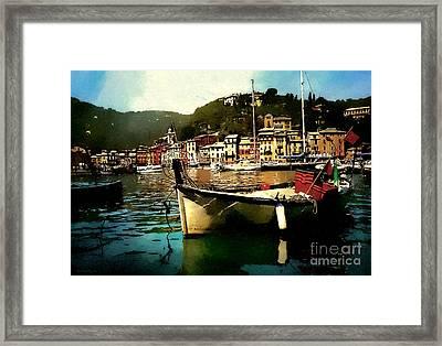 Portofino Harbour Framed Print by Barbara D Richards