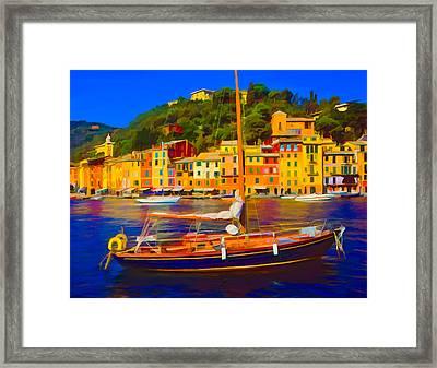 Portofino Italy Framed Print by Wally Hampton