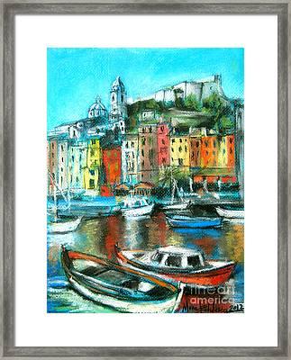 Portovenere Framed Print by Mona Edulesco